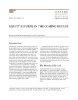 Equity returns in the coming decade