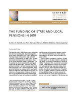 The funding of state and local pensions in 2010