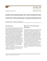How do responses to the downturn vary by household characteristics?