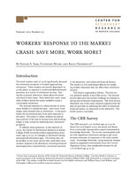 Workers' response to the market crash
