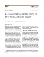 Does staying healthy reduce your lifetime health care costs?