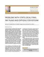 Problems with state-local final pay plans and options for reform