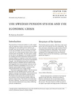 The Swedish pension system and the economic crisis