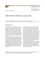 The structure of 401(k) fees
