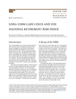 Long-term care costs and the National Retirement Risk Index