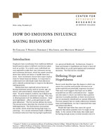 How do emotions influence saving behavior?