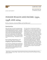 Pension wealth and income