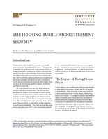 The housing bubble and retirement security
