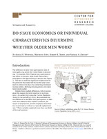 Do state economics or individual characteristics determine whether older men work?