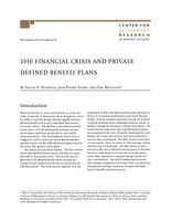 The financial crisis and private defined benefit plans