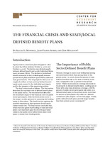 The financial crisis and state/local defined benefit plans