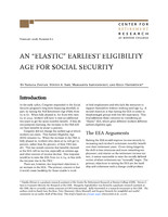 "An ""elastic"" earliest eligibility age for Social Security"