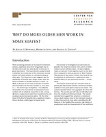 Why do more older men work in some states?