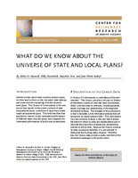What do we know about the universe of state and local plans?