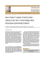 Why don't some states and localities pay their required pension contributions?