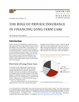 The role of private insurance in financing long-term care