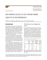 Do people plan to tap their home equity in retirement?
