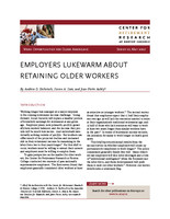 Employers lukewarm about retaining older workers