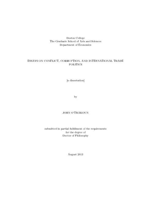 FREE Conflict Essay - Example Essays