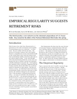 Empirical regularity suggests retirement risks