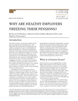 Why are healthy employers freezing their pensions?