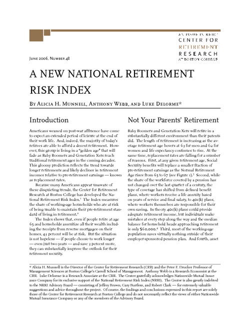 Retirement Risks: It All Starts With Longevity