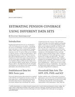 Estimating pension coverage using different data sets