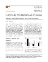Job tenure and the spread of 401(k)s