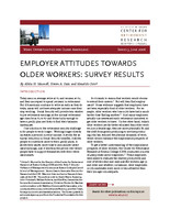 Employer attitudes toward older workers