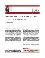 How do age discrimination laws affect older workers?