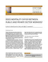 Does mortality differ between public and private sector workers?