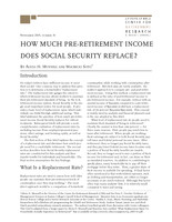 How much pre-retirement income does Social Security replace?
