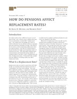 How do pensions affect replacement rates?