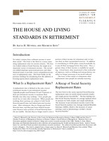 The house and living standards in retirement