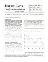 National Saving and Social Security Reform