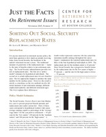 Sorting out Social Security replacement rates