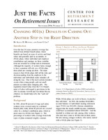 Changing 401(k) defaults on cashing out
