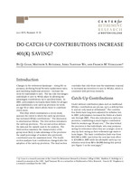 Do catch-up contributions increase 401(k) saving?