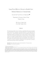 Long-Term Effects of Access to Health Care