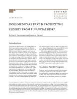 Does Medicare Part D protect the elderly from financial risk?