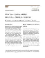 How does aging affect financial decision making?