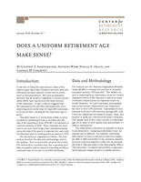 Does a uniform retirement age make sense?