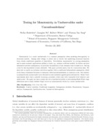 Testing for monotonicity in unobservables under unconfoundedness