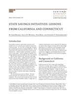 State savings initiatives