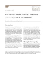 Could the saver's credit enhance state coverage initiatives?
