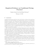 Empirical evidence on conditional pricing practices