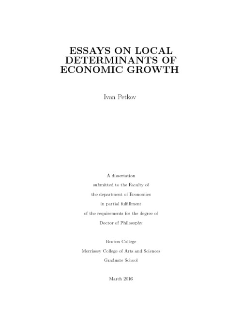 Classification Essay Thesis Statement Abstract Purpose Of Thesis Statement In An Essay also Thesis Statement In Essay Essays On Local Determinants Of Economic Growth  Escholarshipbc Argumentative Essay Papers