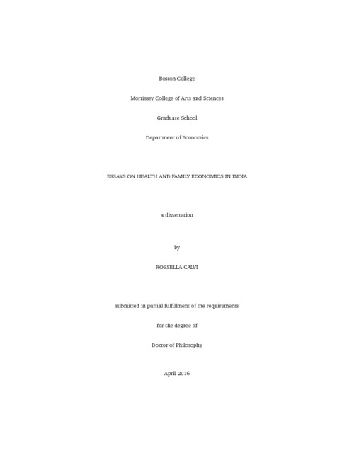 essays on health and family economics in india  escholarshipbc abstract