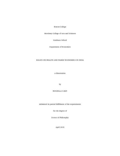 boston college thesis economics