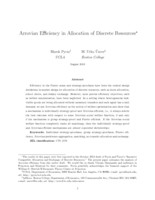 Arrovian efficiency in allocation of discrete resources